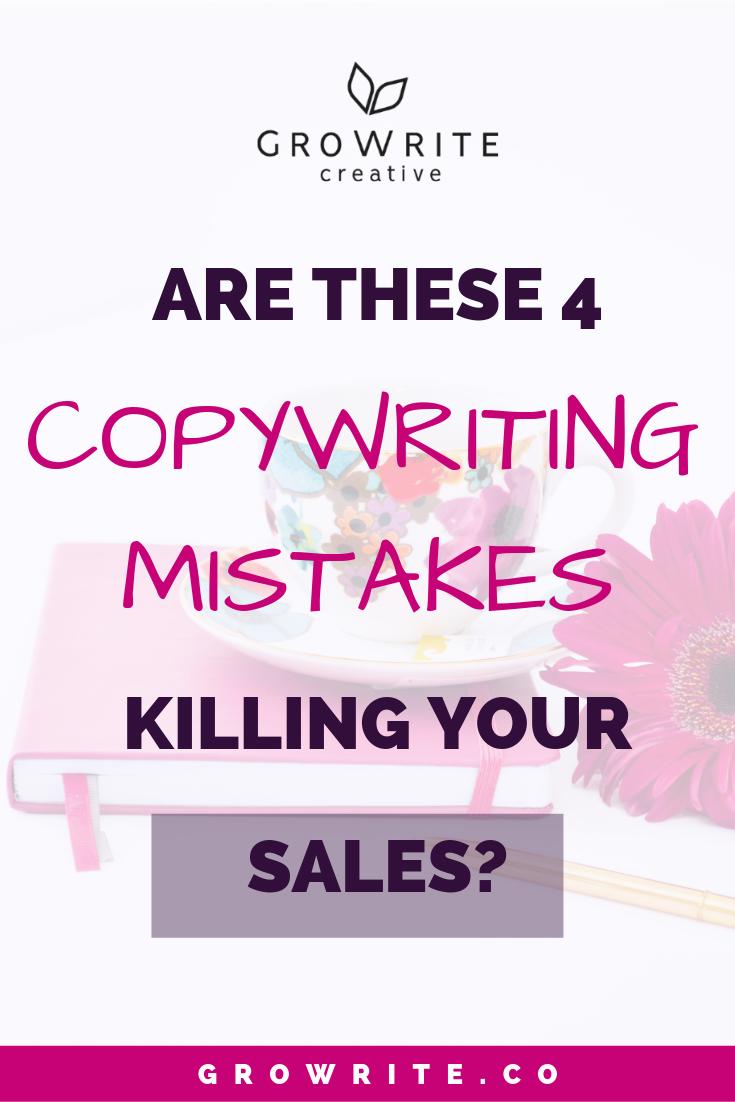 4 copywriting mistakes