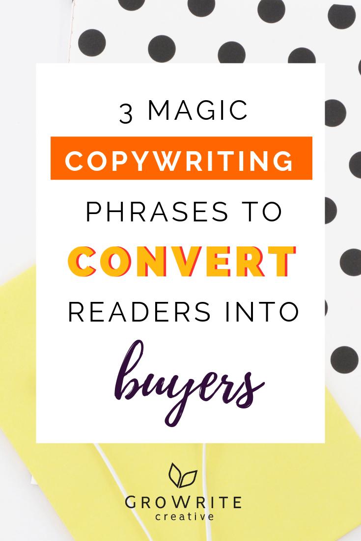 Copywriting phrases convert