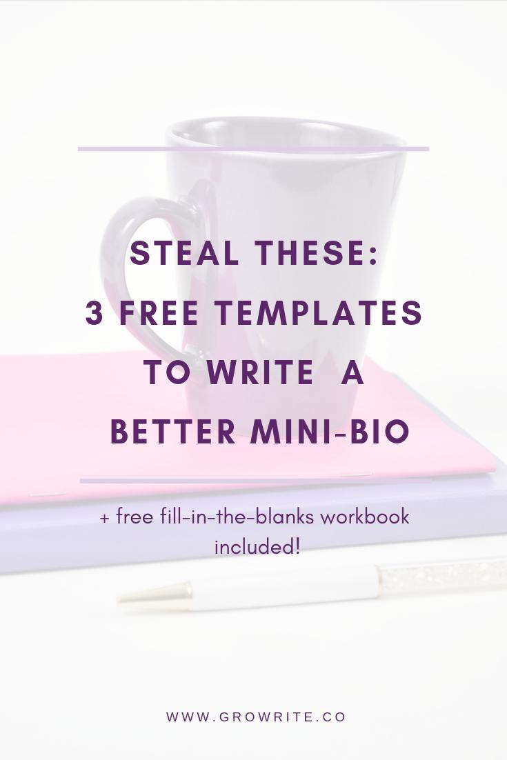 write a better mini-bio