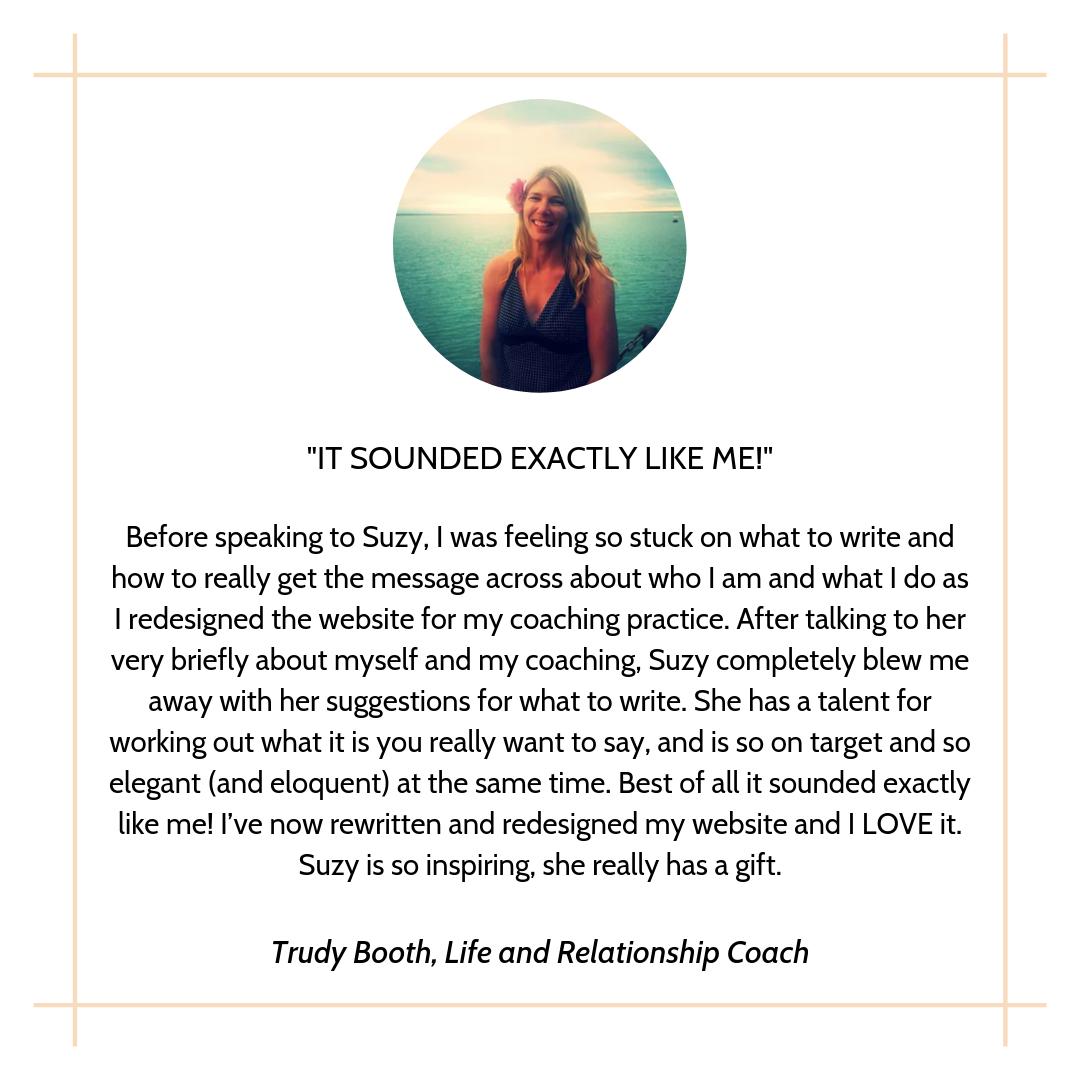 Trudy testimonial